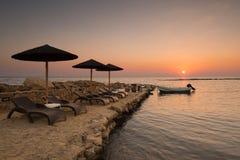 Wschód słońca w Tsilivi Zdjęcia Royalty Free