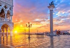 Wschód słońca w Wenecja Zdjęcie Royalty Free