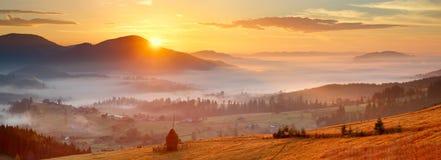 Wschód słońca w wiośnie Zdjęcia Stock