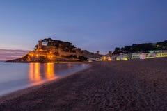 Wschód słońca w wiosce Tossa De Mar, Costa brava Fotografia Royalty Free