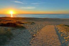Wschód słońca w Wollongong, Nowe południowe walie Zdjęcie Stock