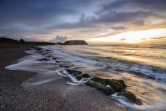 Wschód słońca w wybrzeżu Zdjęcie Royalty Free