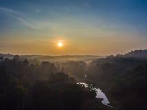 Wschód słońca w wysokiej górze Zdjęcia Stock