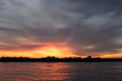 Wschód słońca w Yalta Obraz Stock
