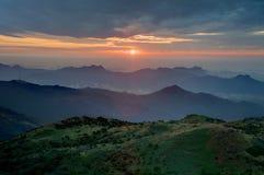 Wschód słońca w zboczu Obraz Royalty Free