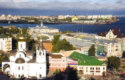 Wschód słońca widok lato Nizhny Novgorod Rosja Obrazy Stock