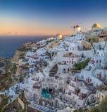 Wschód słońca widok Oia, Santorini, Grecja fotografia royalty free