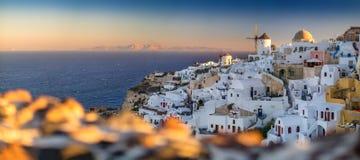 Wschód słońca widok Oia, Santorini, Grecja obrazy stock