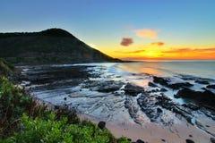 Wschód słońca Wielką ocean drogą, Wiktoria, Australia Obrazy Royalty Free