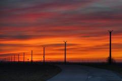 Wschód słońca wodna pomarańcze Obrazy Royalty Free