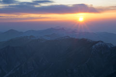 wschód słońca wutaishan fotografia stock