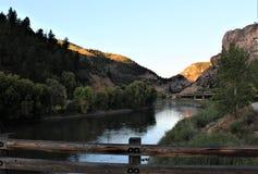 Wschód słońca Wzdłuż Kolorado rzeki obraz royalty free