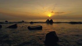 Wschód słońca Z Falowym pięknem zbiory