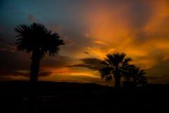 Wschód słońca z kolorowym niebem i chmurami Obraz Royalty Free