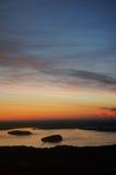 Wschód słońca z wierzchu Cadillac góry obrazy royalty free