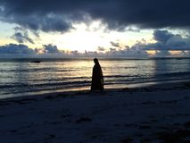 wschód słońca Zanzibaru obrazy stock
