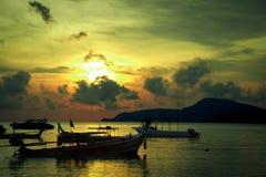 wschód słońca zielony Zdjęcie Royalty Free