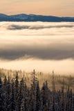 wschód słońca zima Zdjęcie Stock