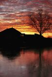 wschód słońca zima Obrazy Royalty Free