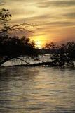 Wschód słońca, zmierzch Zdjęcia Royalty Free