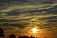 Wschód słońca, zmierzch/ Obraz Royalty Free