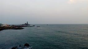 Wschód słońca, zmierzch, przylądka comorin, Kanyakumari, Tamilnadu Obrazy Stock