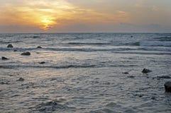 Wschód słońca zmierzchu morze Obrazy Stock