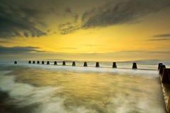 Wschód słońca i baseny w kolorze Zdjęcia Royalty Free