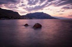 Wschód słońca nad morzem Fotografia Royalty Free