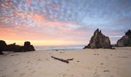 Wschód słońca przy Eurobodalla parkiem narodowym Meringo Obraz Stock