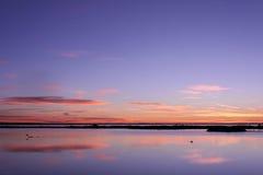 Wschód słońca w Camargue Fotografia Royalty Free