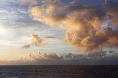 Wschód słońca W Pacyfik Obraz Royalty Free