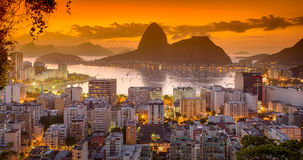 Wschód słońca w Rio De Janeiro Obraz Royalty Free