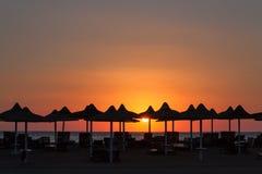 Wschód słońca w sharm el-sheikh Zdjęcia Royalty Free