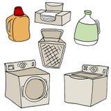 Wäscherei-Satz Stockbild