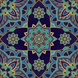 Wschodni błękitny elegancja ornament ilustracja wektor