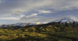 Wschodni Beckwith i Zachodnia Beckwith góra w jesieni Obraz Royalty Free