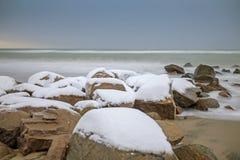wschodni brata krajobraz daleko kołysa Russia morza dwa zima Zdjęcie Stock