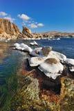 wschodni daleko krajobrazowy morze Fotografia Royalty Free