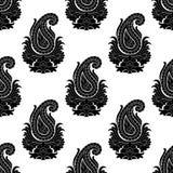 wschodni deseniowy bezszwowy styl Paisley ornament Zdjęcie Royalty Free