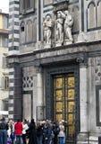 Wschodni drzwi Florencja Baptistery Zdjęcia Royalty Free