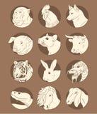 Wschodni horoskop Fotografia Royalty Free