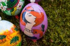 wschodni jajka handpainted fotografia stock