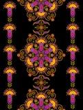 Wschodni kwiecisty ornament royalty ilustracja