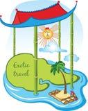 Wschodni podróży kreskówki pojęcie Fotografia Stock