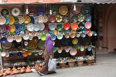 Wschodni rynki w starym miasteczku obrazy royalty free