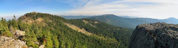 Wschodni widok od Klein Osser Ostry i Jezerni hora góra Obrazy Royalty Free