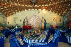 Wschodni wnętrze piękna restauracja, wodny temat, Acapulco, Meksyk zdjęcie royalty free