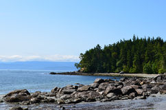 wschodni wyspy parka linii brzegowej sooke Vancouver obraz royalty free