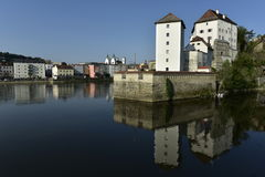 Wschodnia Część Veste Niederhaus, Passau, Bavaria, Niemcy Fotografia Stock